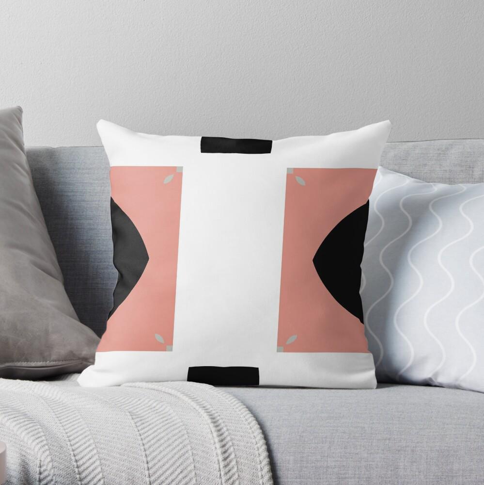 Mauve and Black 2 by Julie Evehart Throw Pillow