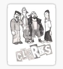 Clerks Animated Series - Cartoon TV Show - Pencil Drawing Sticker