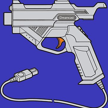 Dreamcast Light Gun (On Blue) by saschagrant