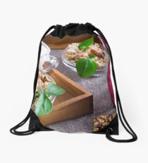 Muesli with nuts and raisins Drawstring Bag