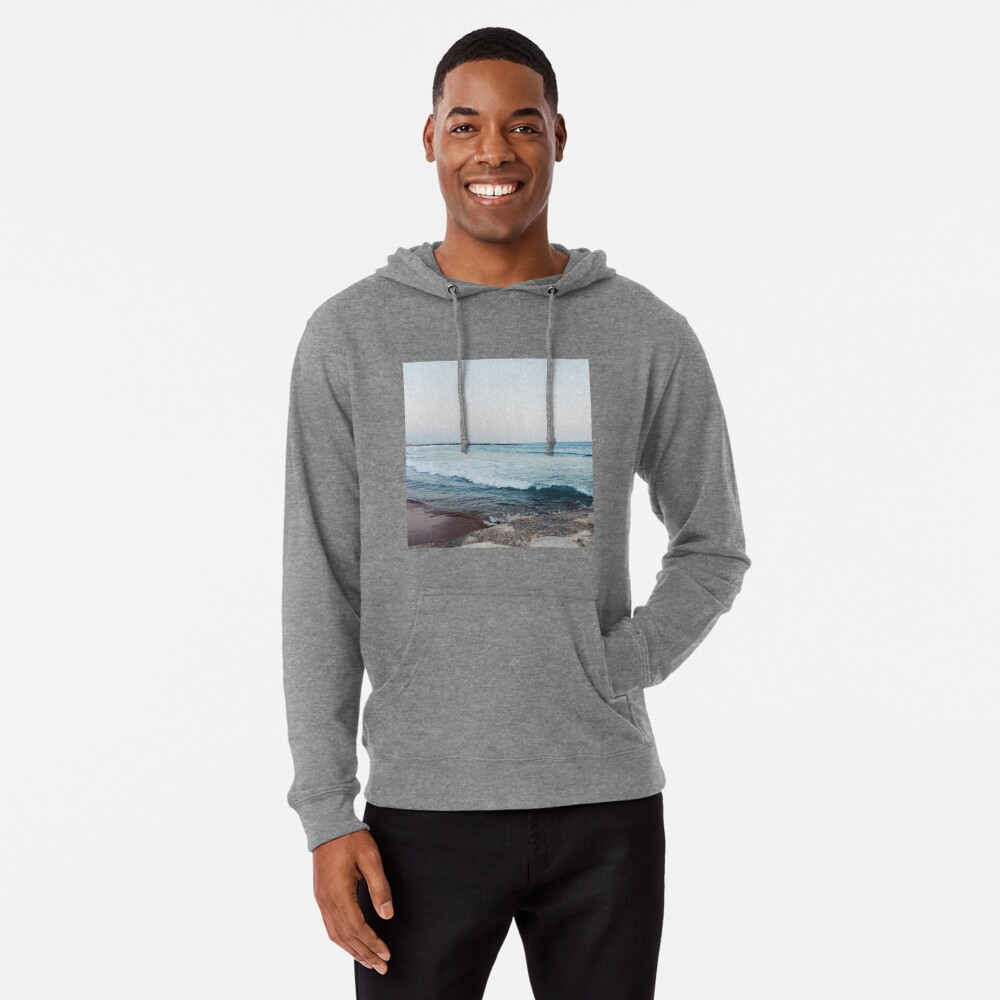 Calm ocean waves Lightweight Hoodie