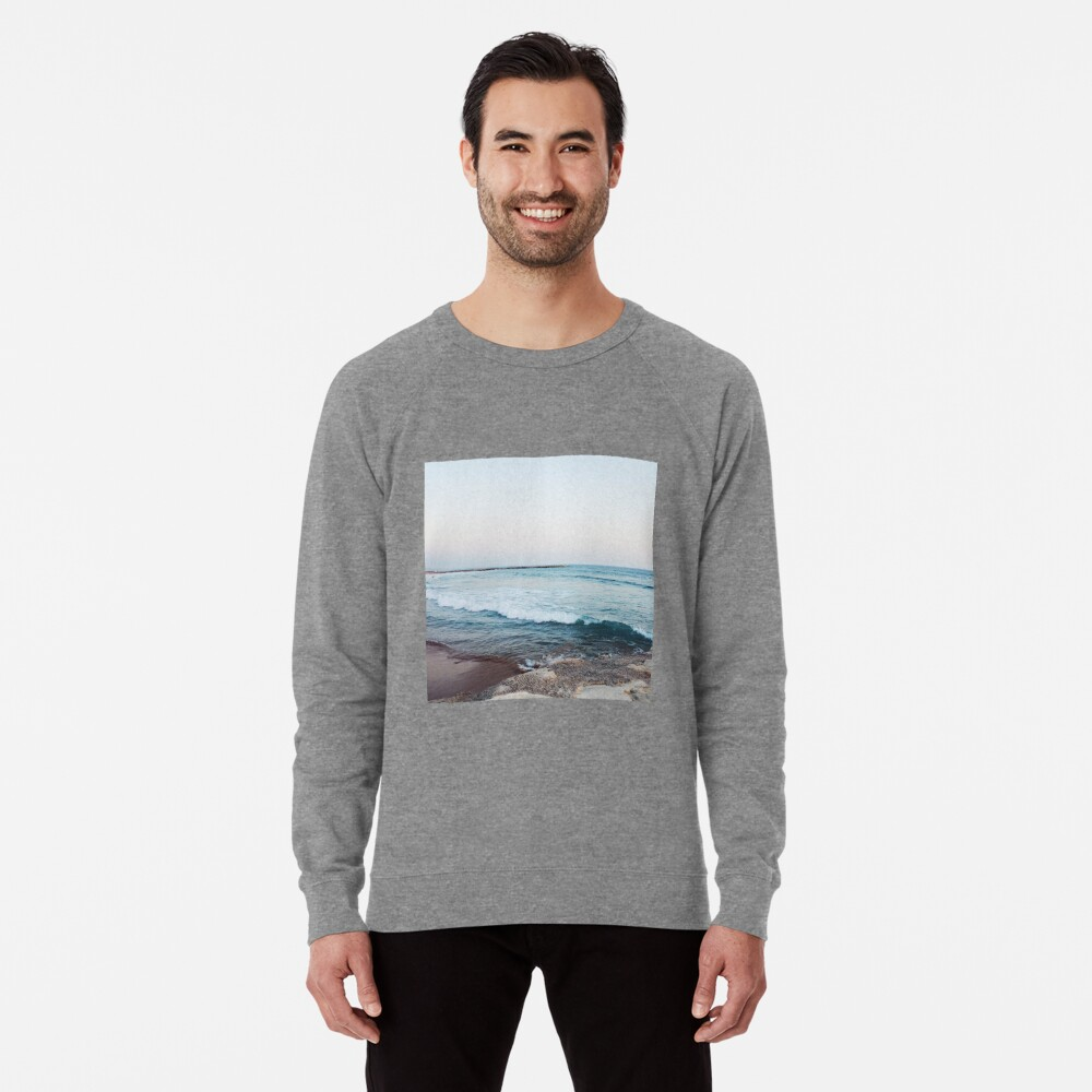Ruhige Meereswellen Leichter Pullover