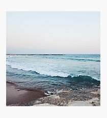 Calm morning ocean waves Photographic Print