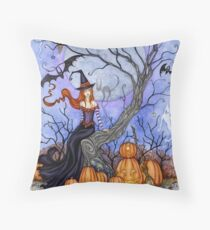 The Halloween Tree Throw Pillow