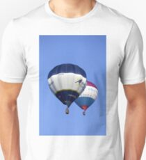 Hot Air Balloons flying over Wiltshire, United Kingdom. Unisex T-Shirt
