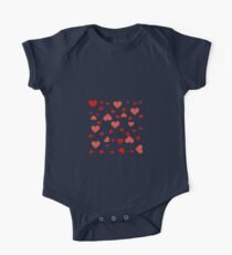Valentines red hearts white Kids Clothes