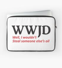 WWJD, Oil Laptop Sleeve