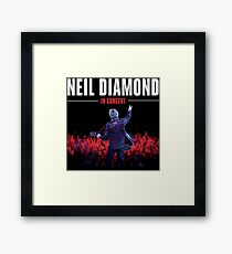 tshirt color black neil tour style poster  Framed Print