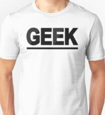 Geek Text Typography Funny Comic T-Shirt