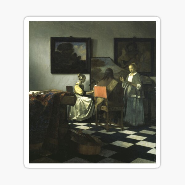 Stolen Art - The Concert by Johannes Vermeer Sticker