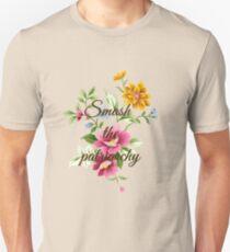 Smash the Patriarchy Floral Unisex T-Shirt