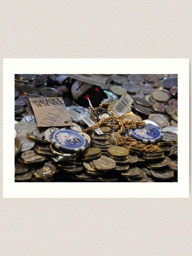 Alternate view of Winnings - coins Art Print