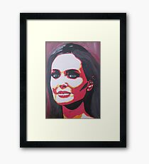 Portrait  of a tough woman Framed Print