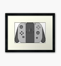 Nintendo Switch Pixel Art Framed Print