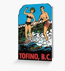 Tofino British Columbia Vintage Travel Decal Greeting Card