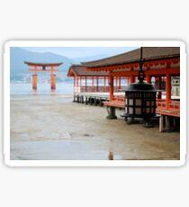 Red Torii Gate / Miyajima Japan Shrine / Imagine High Tide Sticker