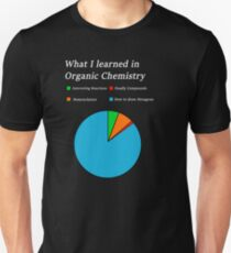 Organic Chemistry Fun Pie Chart A Level Unisex Shirt  T-Shirt