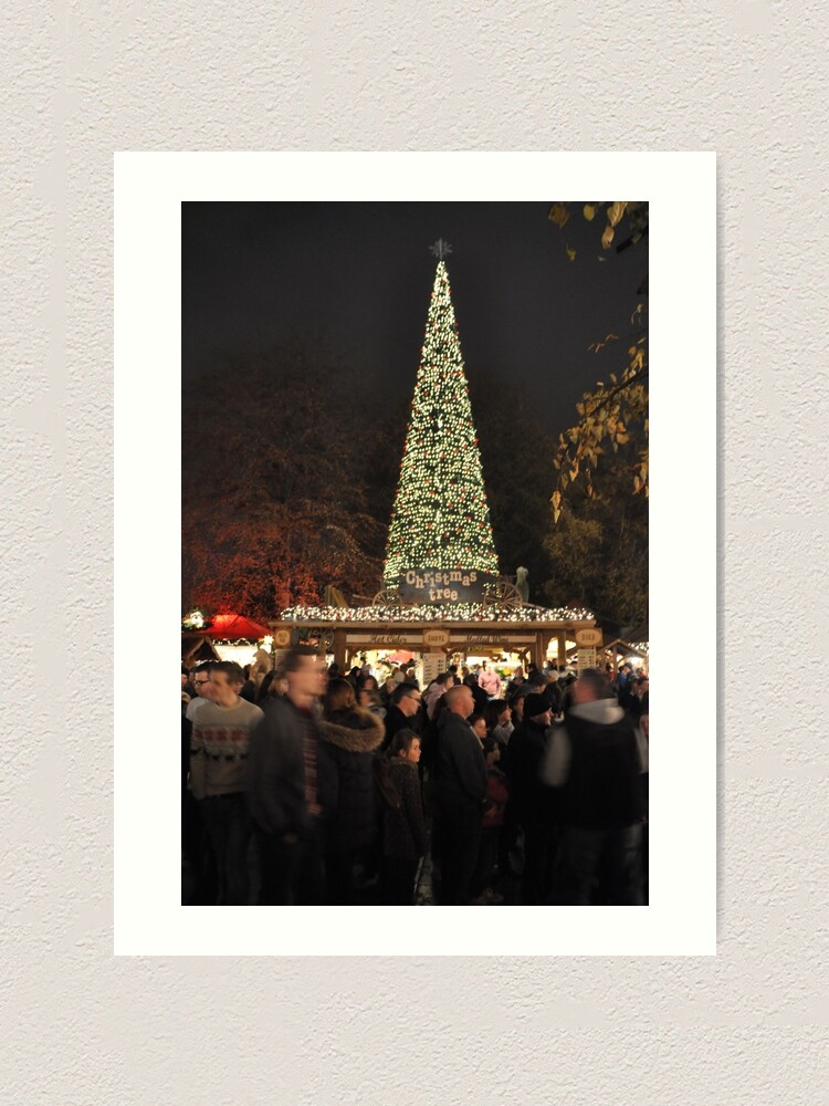 Alternate view of Christmas in town Art Print