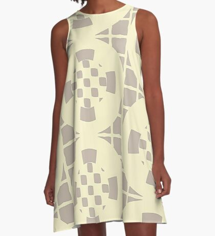 Cream and Gray by Julie Everhart A-Line Dress