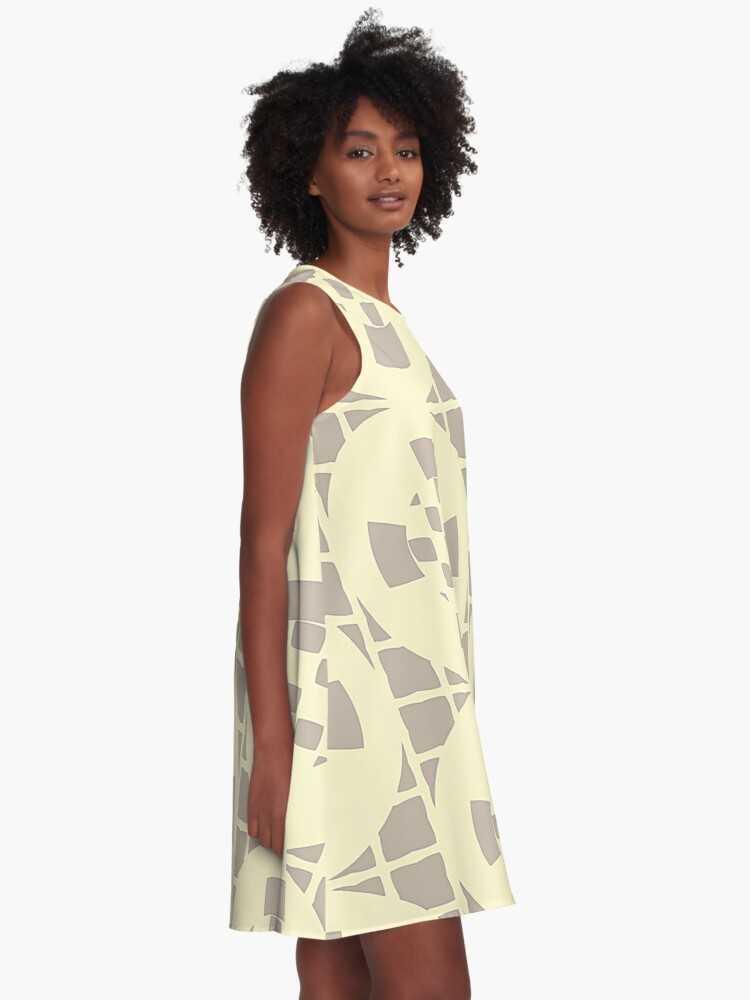 Alternate view of Cream and Gray by Julie Everhart A-Line Dress