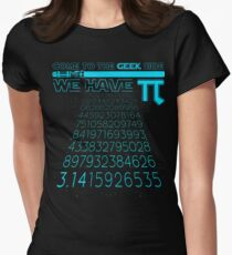 Come To The Geek Side We Have Pi Funny Pi Day Gifts Womens Fitted T-Shirt