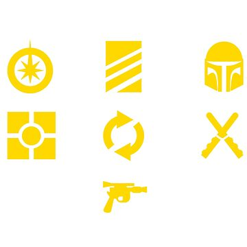 Star Wars Destiny Card Game Symbols by TheDael