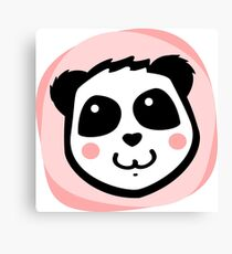 Pretty Blush Panda Canvas Print