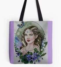 Violet lily of the valley fairy faerie Tote Bag