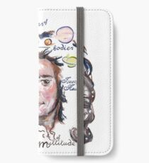 Isaac Newton Picture Quote - Madness of a Multitude iPhone Wallet/Case/Skin