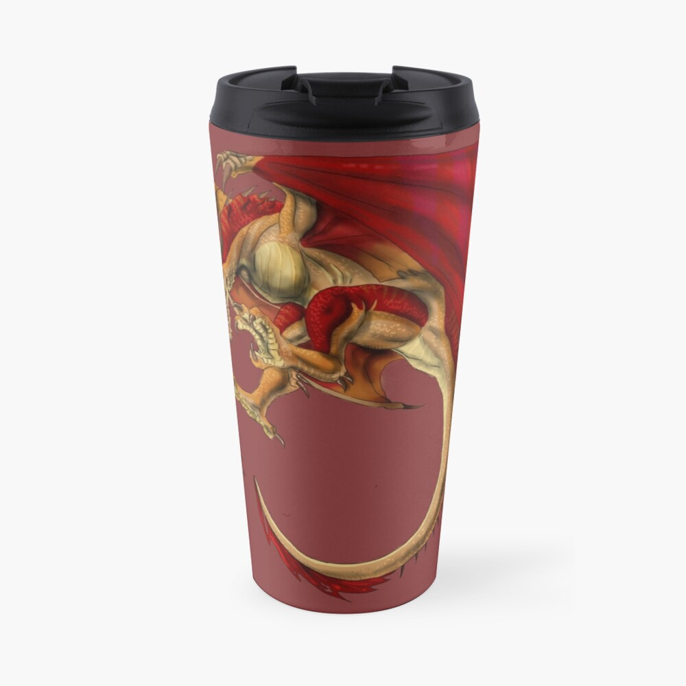 Rote Wyvern Thermobecher