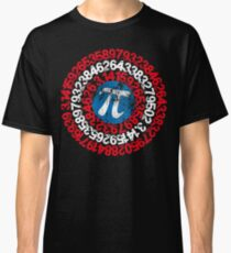 Captain Pi Funny Pi Day 2017 Superhero Style for Math Geeks and Nerds Classic T-Shirt
