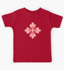 Coral Pink Flowers Ribbon Spring Salmon Colored Floral Art Kids Tee
