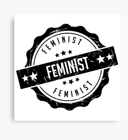 Feminist rubber stamp Canvas Print