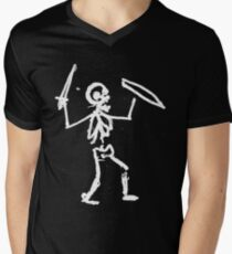 SKELETON WARRIOR Men's V-Neck T-Shirt