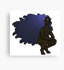 Etheral Space Hair Boy Canvas Print