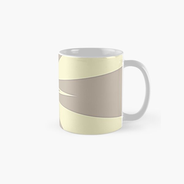Gray and Cream V Shaped by Julie Everhart Classic Mug