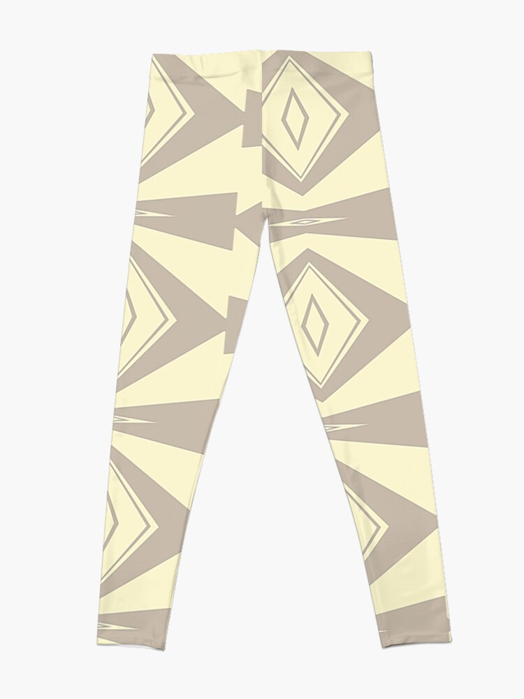 Alternate view of Gray and Cream V Shaped by Julie Everhart Leggings