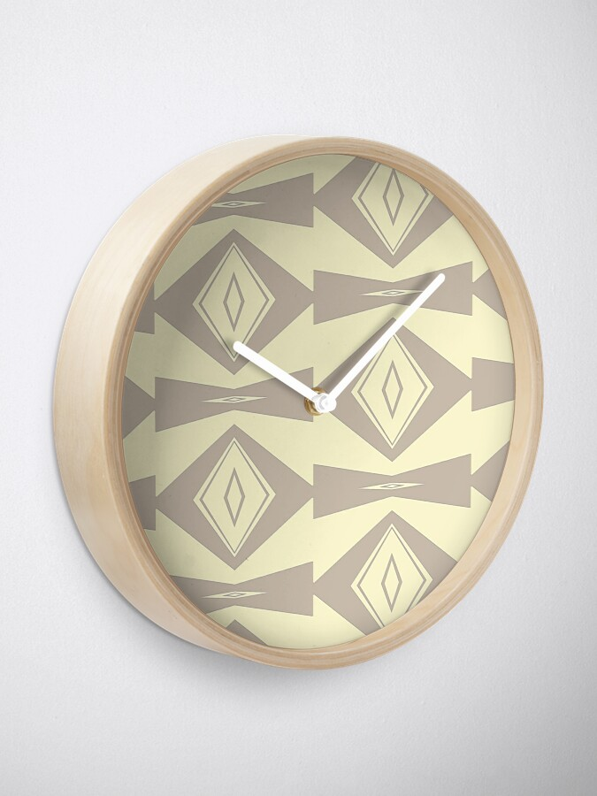 Alternate view of Gray and Cream V Shaped by Julie Everhart Clock