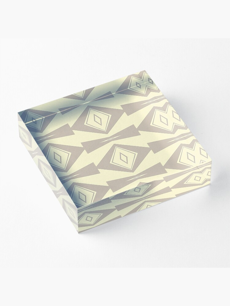 Alternate view of Gray and Cream V Shaped by Julie Everhart Acrylic Block