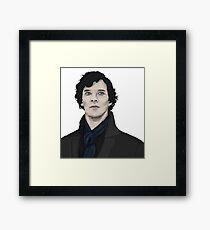 Benedict Cumberbatch a Sherlock Framed Print