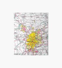 Atlanta Map Art Board
