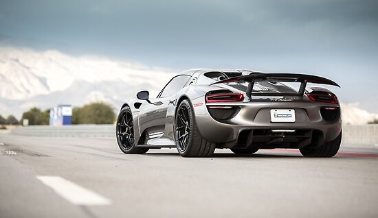 Porsche 918 Spyder Supercar Hybrid Cars SINGLE CANVAS WALL ART Picture Print