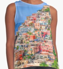 Colorful Positano hill, Italy Contrast Tank