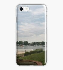 Lighthouse in Newport RI iPhone Case/Skin