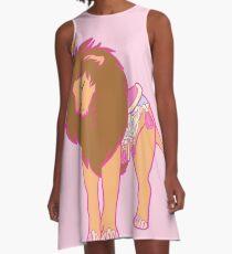 Pastel Carousel Lion A-Line Dress