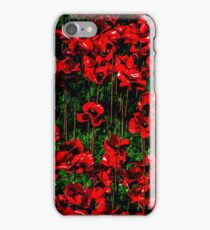 Poppy fields of remembrance for WW1 at Tower of London - square photo iPhone Case/Skin
