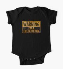 WARNING, I'M A LIE DETECTOR Metal Rust Sign - Danger Caution One Piece - Short Sleeve