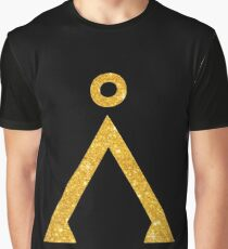 Earth symbol Golden style Graphic T-Shirt