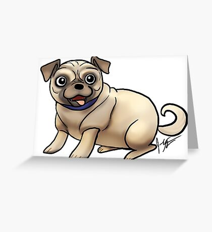 Pugs Greeting Card