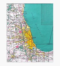 Chicago Map Photographic Print